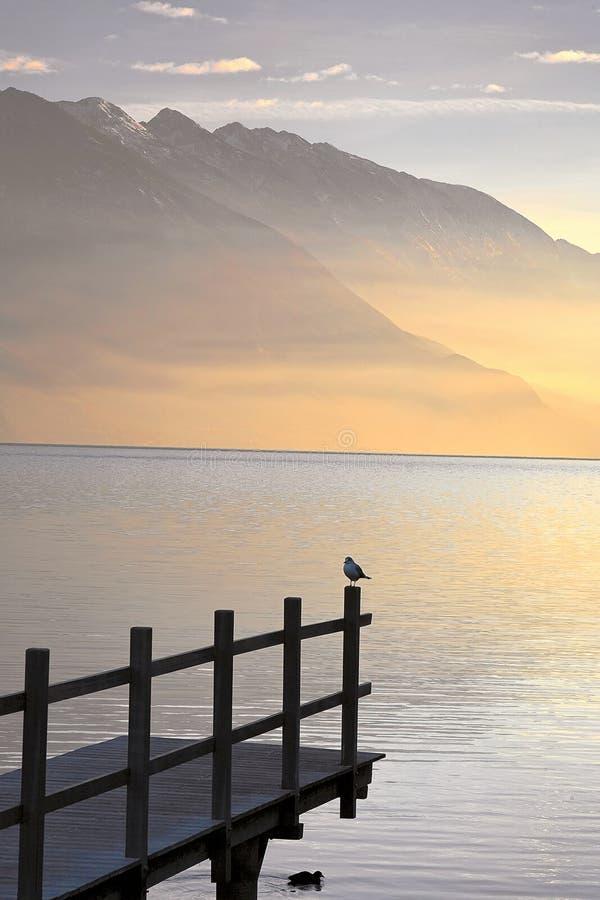 lake gardy fotografia stock