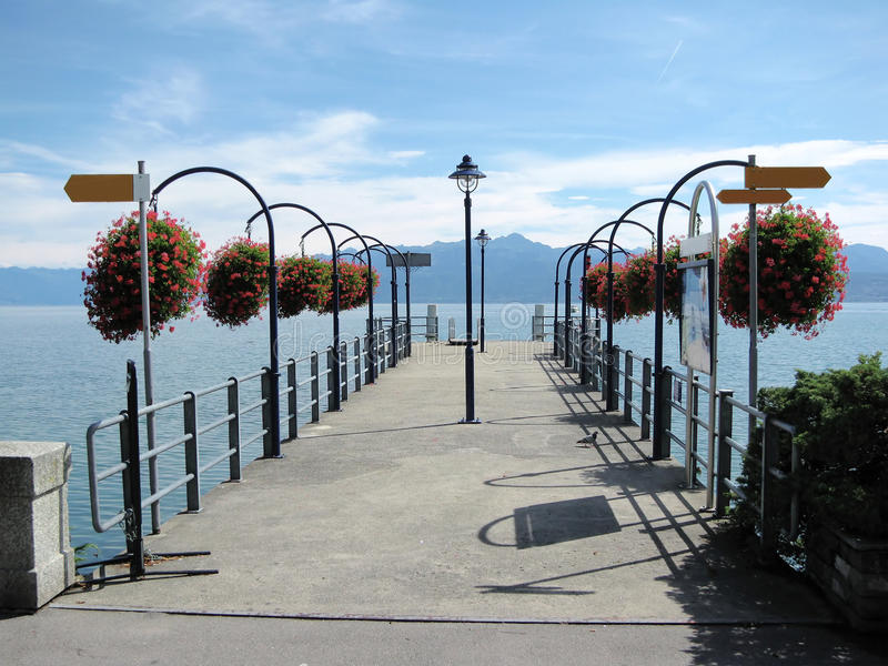 Lake Geneva, Switzerland stock photography