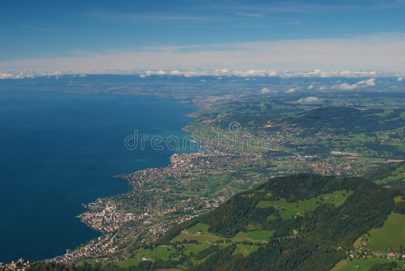 Lake Geneva, Switzerland royalty free stock image