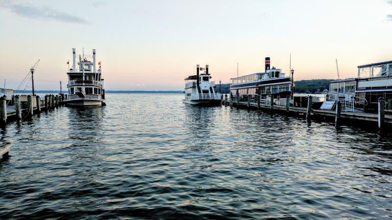 Lake Geneva, Wisconsin Cruise Line stock image