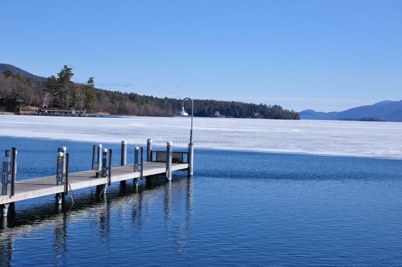 Lake George ,New York. Lake George, Adirondack Mountains, winter Warren County, New York , United States royalty free stock images