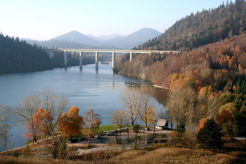 Lake in Gorski Kotar stock images