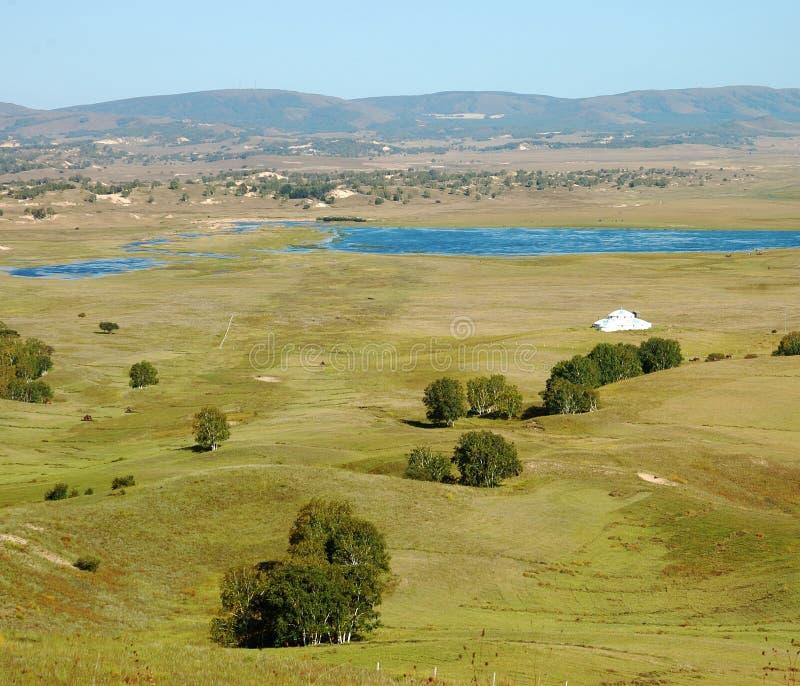 Download Lake In Grassland Stock Images - Image: 21398634