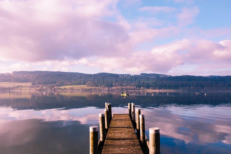 Lake Greifense, Switzerland. Lake Greifensee in canton Zurich in Switzerland stock photo