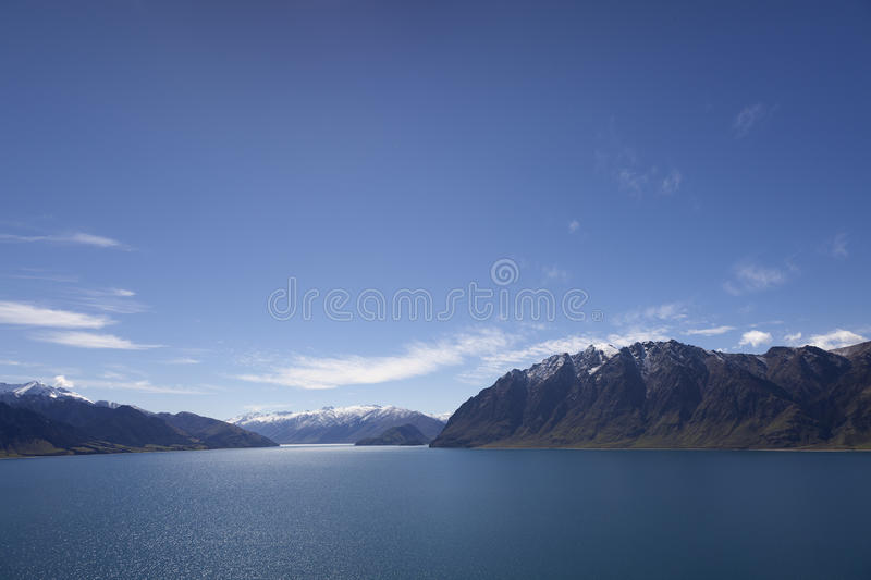 Lake Hawea New Zealand Stock Image