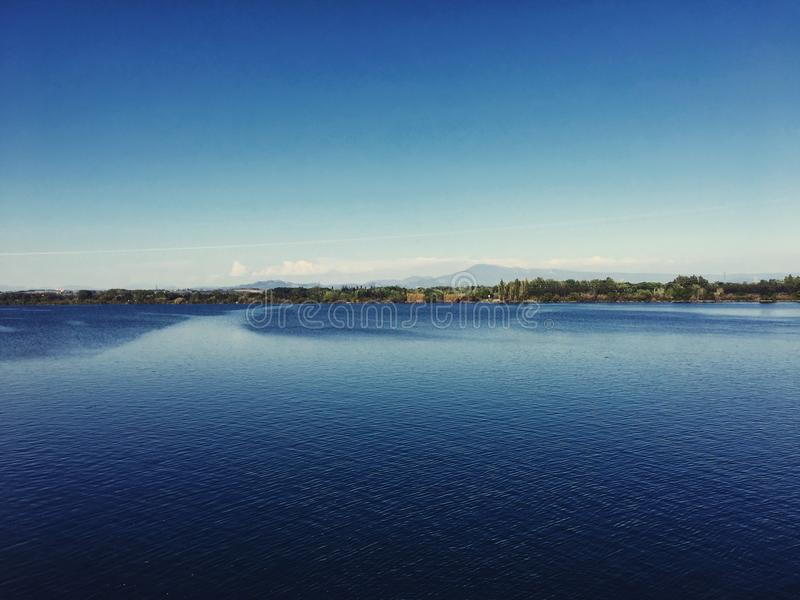 Download Lake horizon stock photo. Image of beautiful, landscape - 90313082