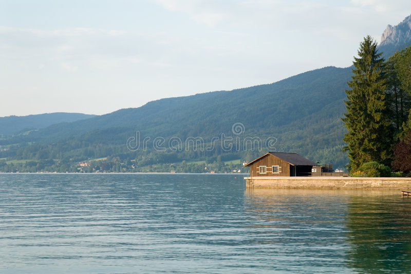 Download Lake house stock photo. Image of home, relax, farm, wood - 1694556