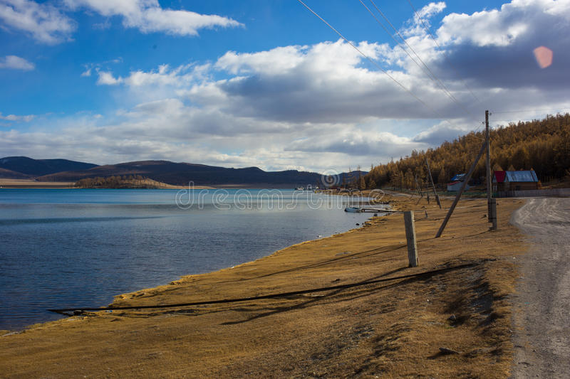 Lake Hovsgol in Mongolia stock images