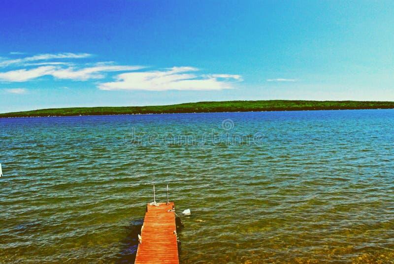 Lake hubbard. Beautiful lake hubbard in northern Michigan ,just south of alpena stock images