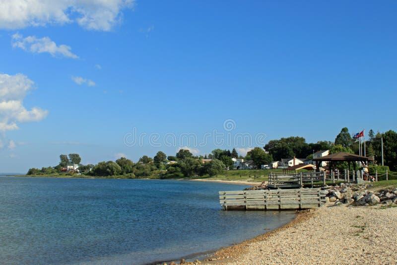 Lake Huron, great lakes. The Beach at Lake Huron Great Lakes royalty free stock photography