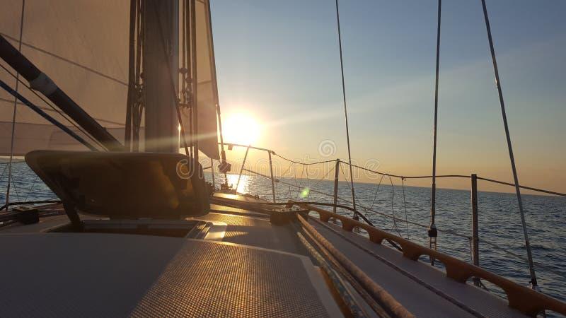 Lake Huron segling arkivfoto