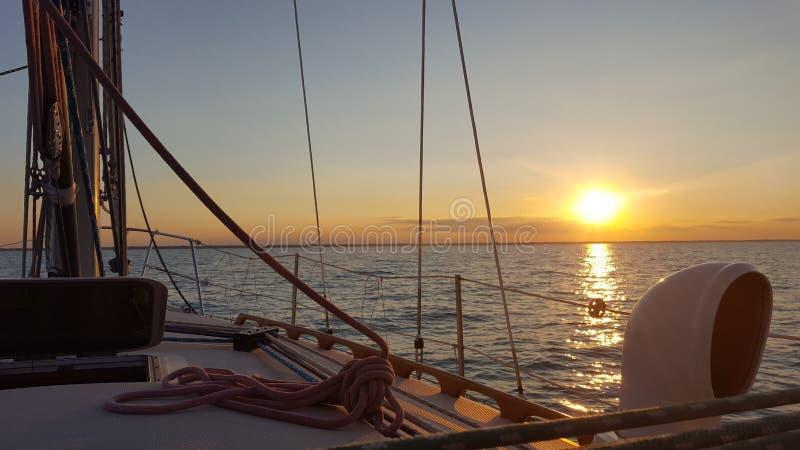 Lake Huron segling royaltyfria foton