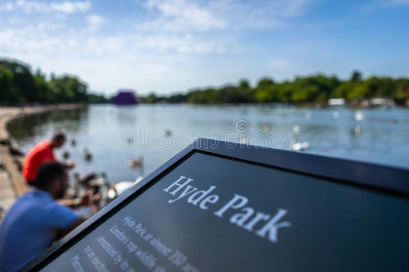 Lake Hyde Park in London, England, UK royalty free stock images