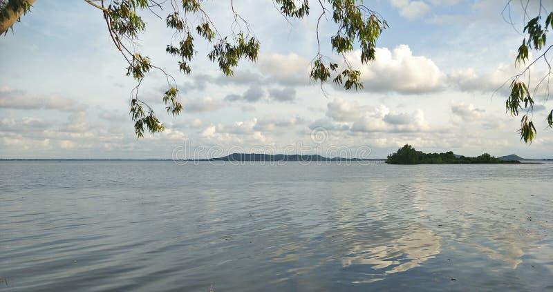 Lake i aftonen royaltyfri foto