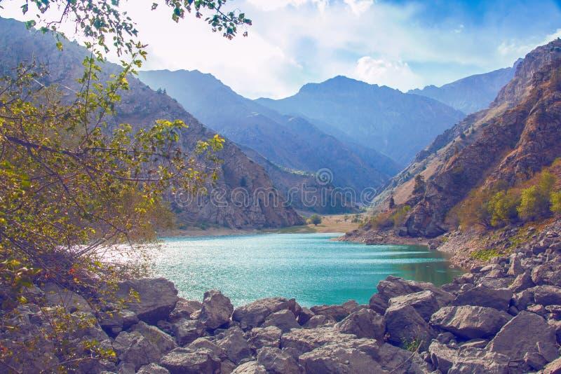 Lake i berg royaltyfri bild