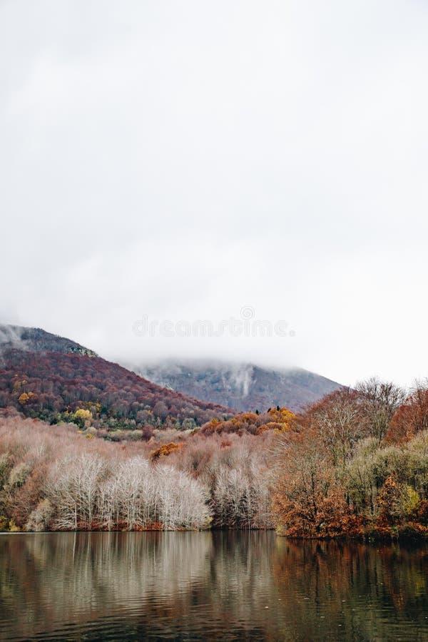 Lake i bergligganden fotografering för bildbyråer