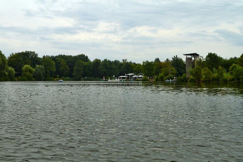Lake i parkera arkivbild