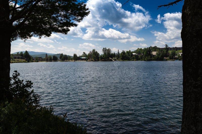 Lake i sommaren royaltyfri fotografi