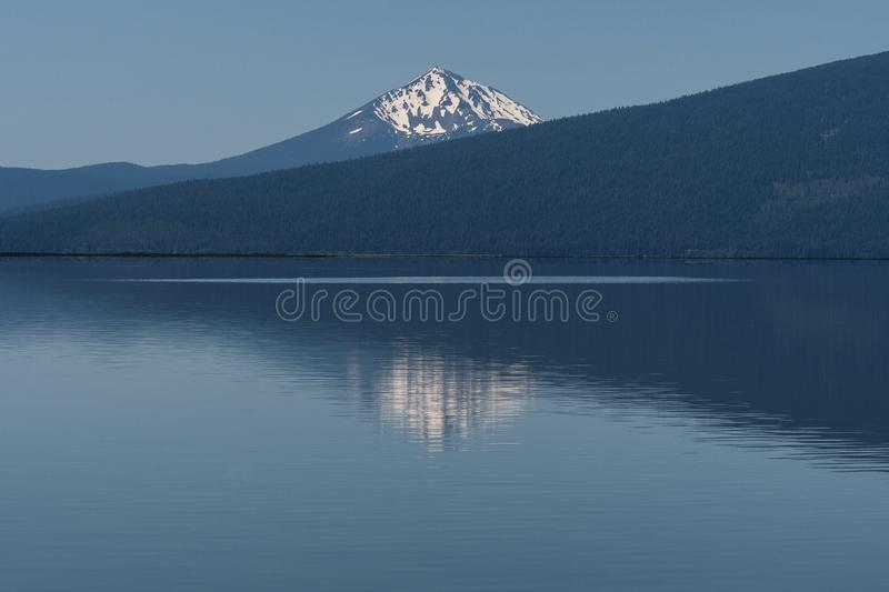 Agency Lake in Southern Oregon near Klamath Falls stock photography