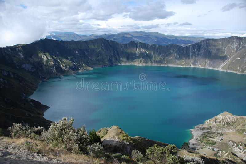 A Lake inside a volcano crater royalty free stock photo