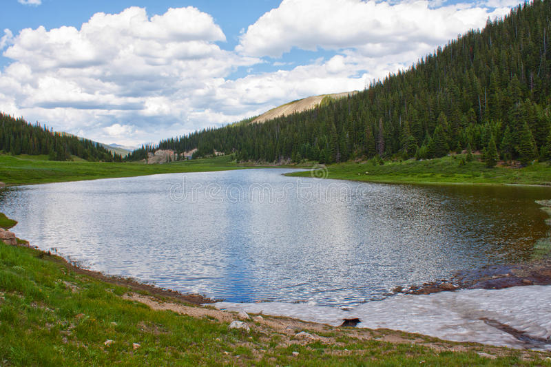 Lake Irene in Rocky Mountains. Colorado, USA in summer stock image