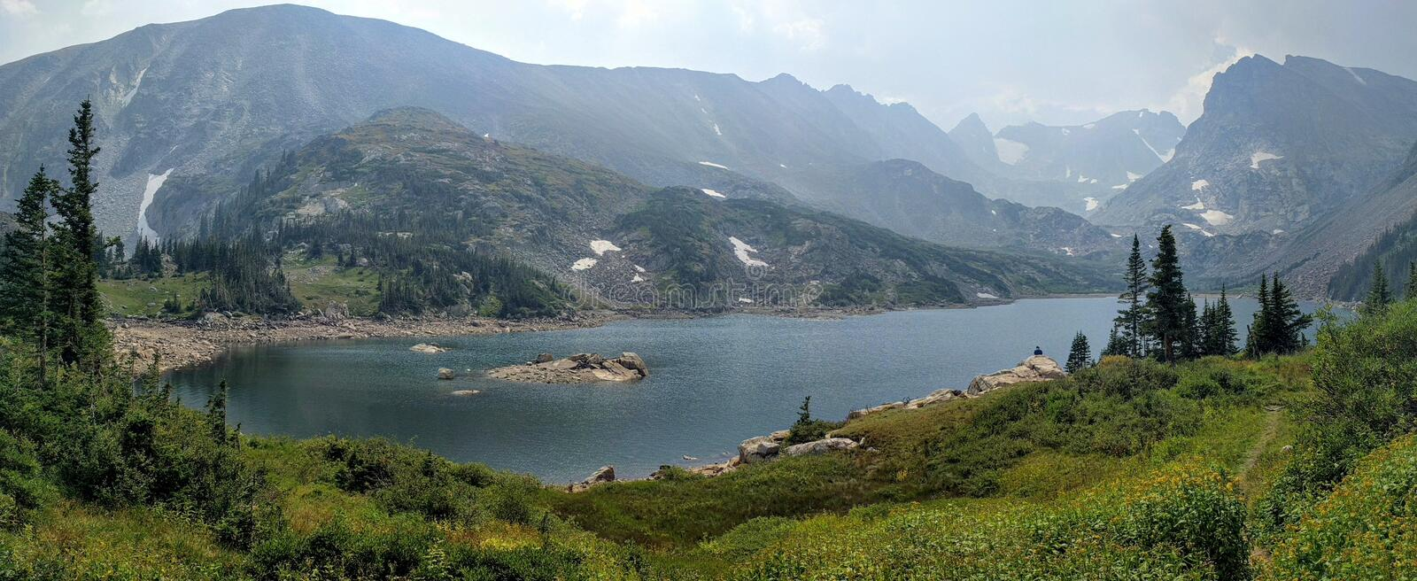 Lake Isabelle in Colorado. Beautiful lake Isabelle in Colorado royalty free stock image