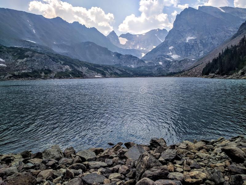 Lake Isabelle in Colorado. Lake Isabelle in Indian peak wilderness in Colorado royalty free stock photos
