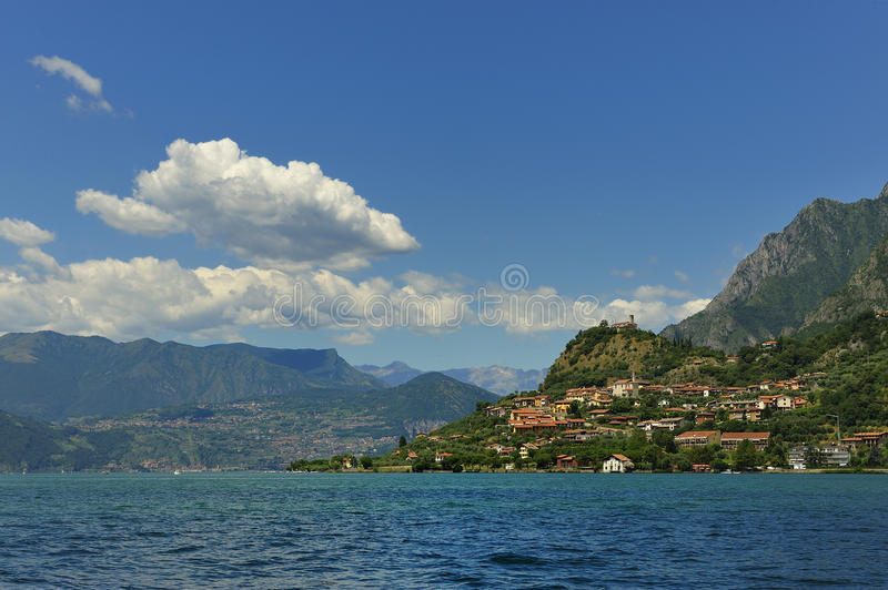Download Lake Iseo stock image. Image of blue, europe, cloudscape - 15227295