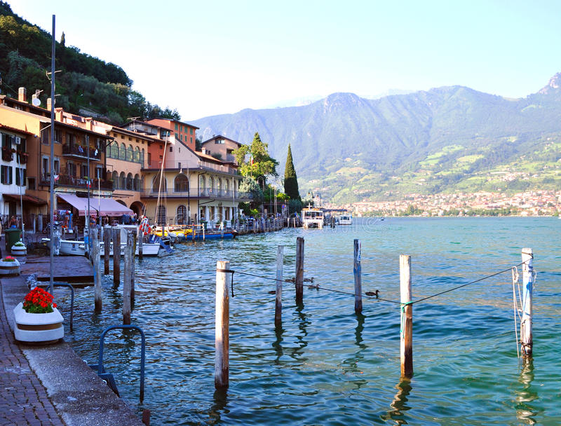 Lake Iseo, Italy stock photography