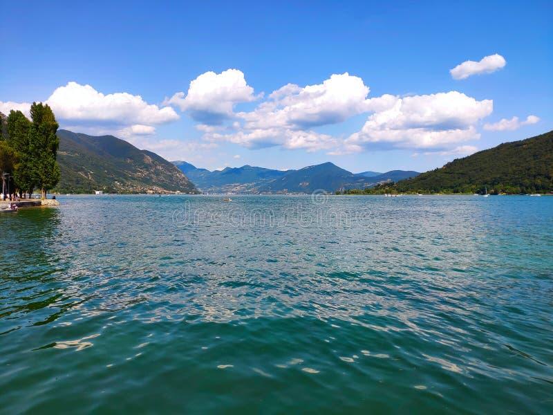 Lake Iseo North of Italy. Vacation stock photos
