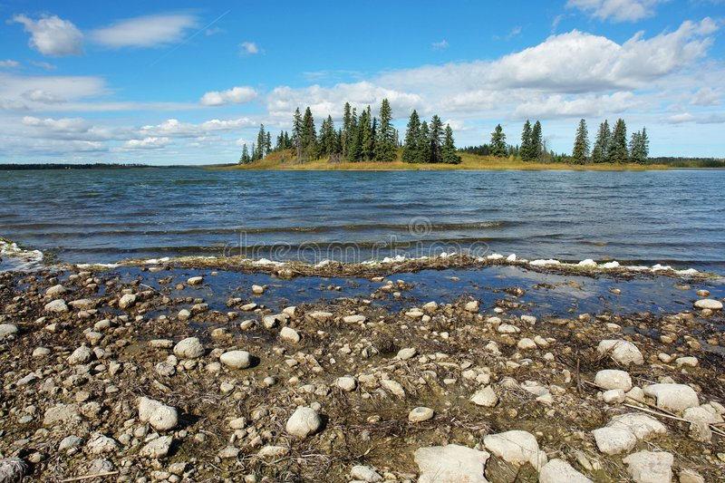 Download Lake and island stock photo. Image of shore, view, reflection - 4408582