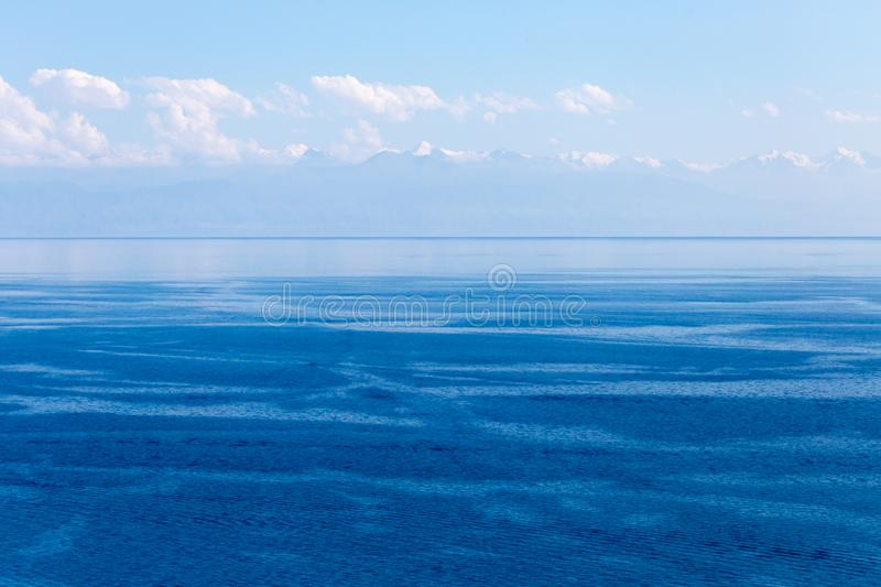 Lake Issyk-Kul in Kyrgyzstan royalty free stock images