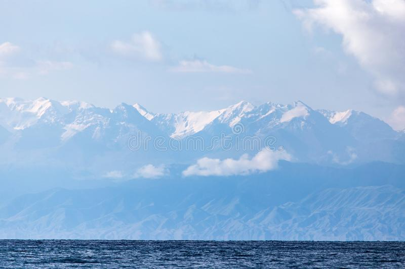 Lake Issyk-Kul in Kyrgyzstan stock photos