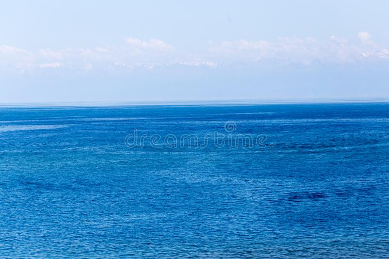 Lake Issyk-Kul in Kyrgyzstan stock images