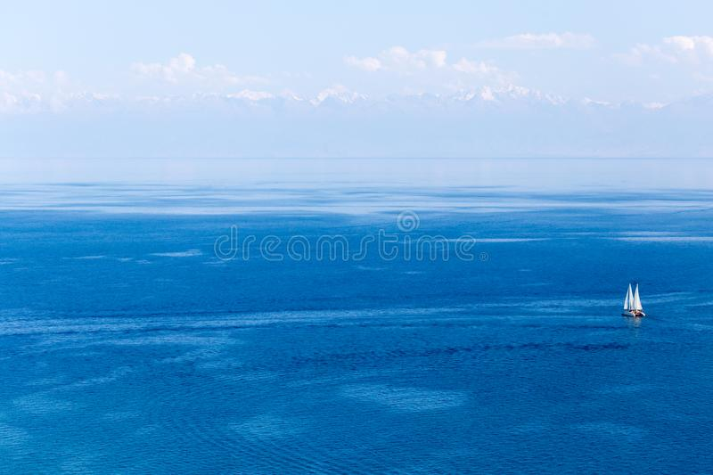 Lake Issyk-Kul in Kyrgyzstan royalty free stock photo