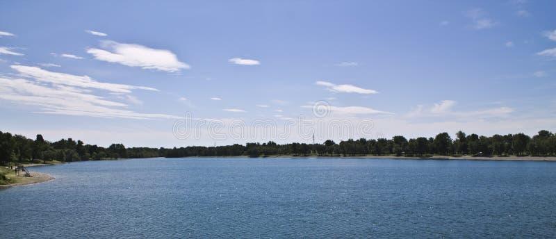 Lake jarun in zagreb royalty free stock images