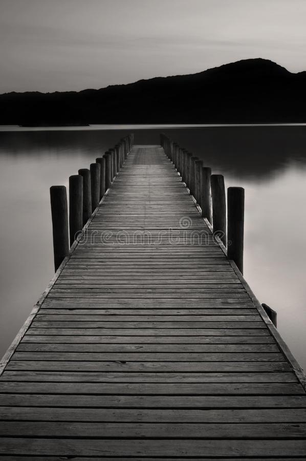 Lake Jetty at Coniston water. The famous jetty at coniston water, Cumbria, England royalty free stock images