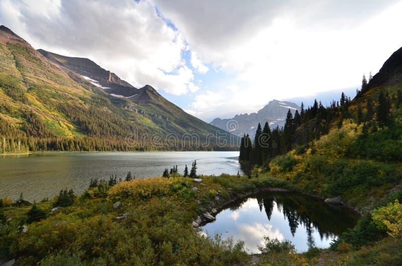 Lake Josephine at Glacier National Park stock photo