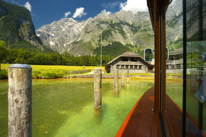 Download On the lake of Königsee stock image. Image of countryside - 83702285