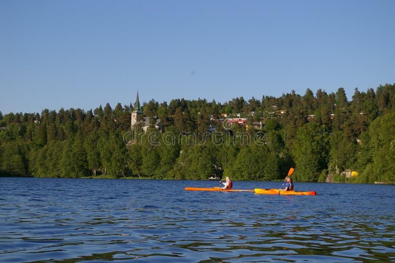 lake kajakarki sceniczny zdjęcia royalty free