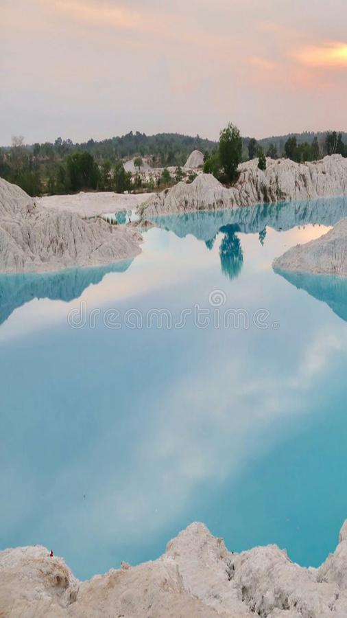 lake kaolin indonesia stock image