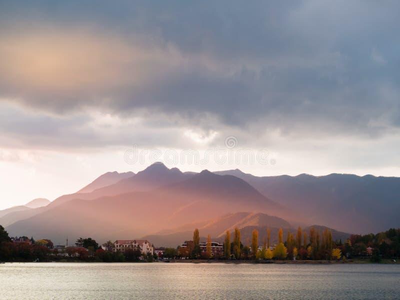 Lake Kawaguchi royalty free stock photos