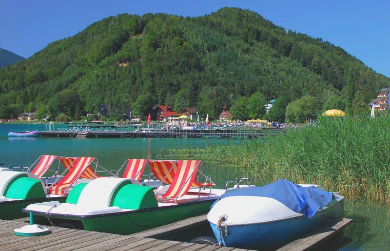Lake Klopein,Carinthia,Austria royalty free stock image