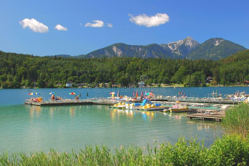 Lake Klopeiner See,Carinthia,Austria stock photos