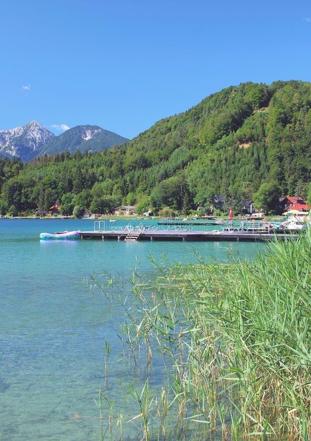 Lake Klopeiner See,Carinthia,Austria royalty free stock image