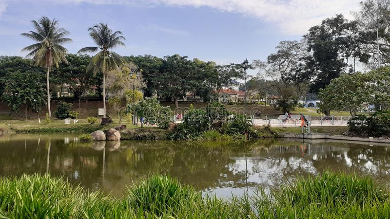 A lake in kluang town, johor malaysia. People come for leisure royalty free stock images