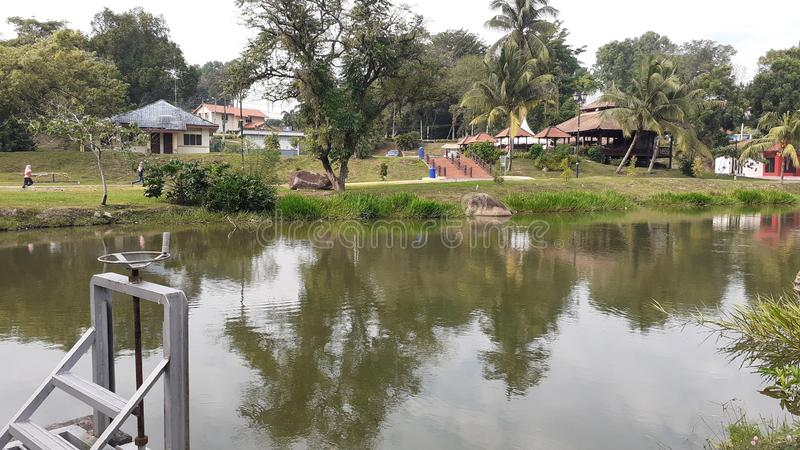 A lake in kluang town, johor malaysia. People come for leisure royalty free stock photography