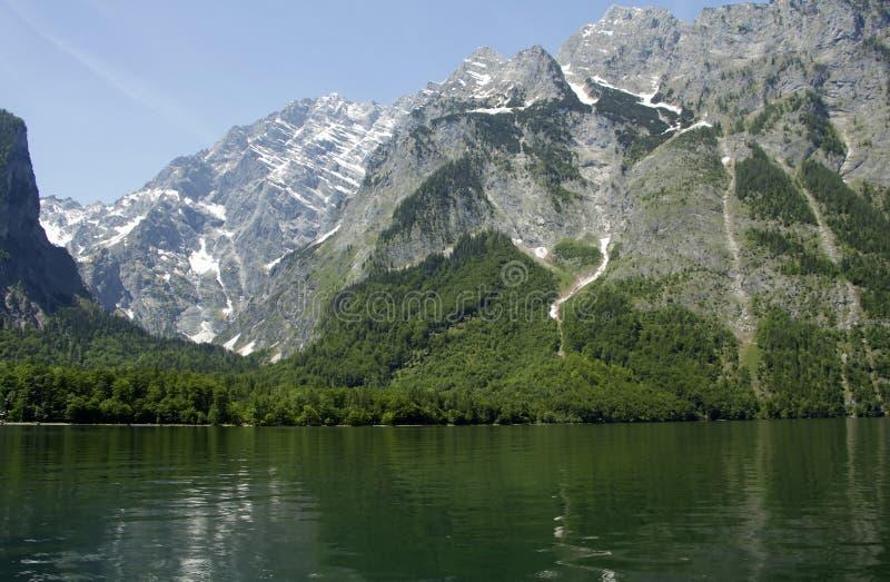 Lake Koenigssee in Alps. Bavaria Germany. stock photography