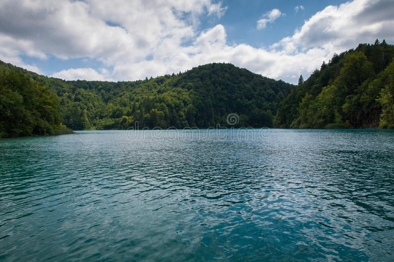 Lake Kozjak, Plitvice Lakes, National Park, Croatia. Lake Kozjak in National park of Plitvice Lakes situated in Northern Croatia. Picture was taken during summer stock images
