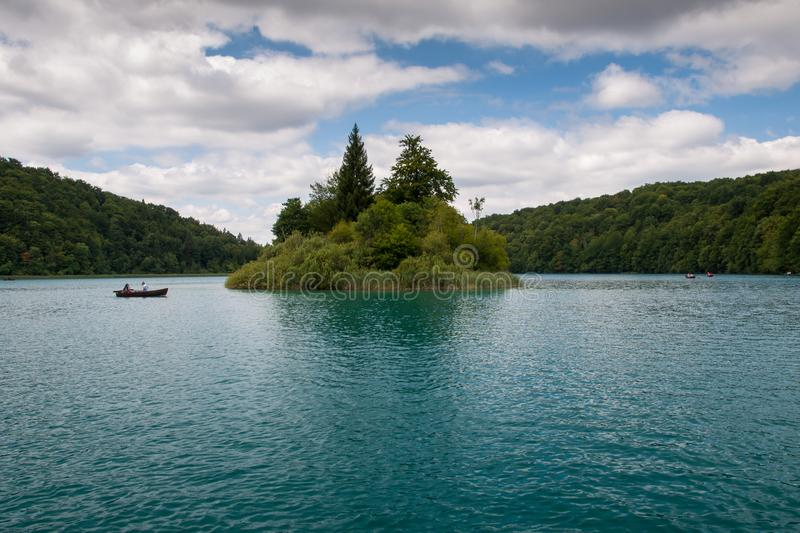 Lake Kozjak, Plitvice Lakes, National Park, Croatia. Lake Kozjak in National park of Plitvice Lakes situated in Northern Croatia. Picture was taken during summer stock photography
